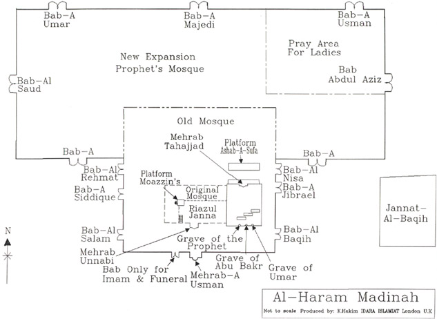 Map and doors location of Masjid-e-nabvi sallallaho allihi wasalam  sc 1 st  ahlanpk & Waseemu0027s Islaimc Folder - AHLAN pezcame.com