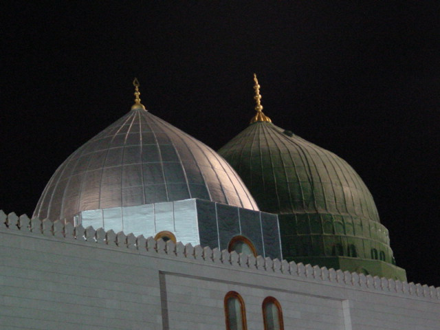 Green Domb By Night -Prophet's Mosque P.B.U.H.